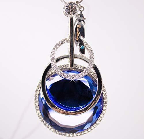 Collar para mujer, collar, joya para mujer, un fuegos artificiales de color azul. La apariencia glamurosa – Joya para mujer, señora de los anillos.