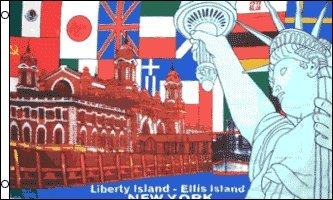 AZ FLAG Bandera de Isla DE LA Libertad DE Nueva York 150x90cm - Bandera Estatua DE New York 90 x 150 cm