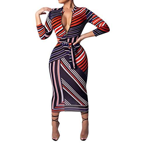 Vestidos para Mujer,Vestido Vestido Verano Impresión Fiesta Vestidos Casual Sexys Vestidos Larga Vestido de Noche Manga Corta Vestido de Playa vpass