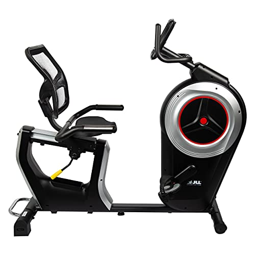 JLL RE600 Pro Recumbent Exercise Bike, 6kg One-Way Flywheel, Electronic...
