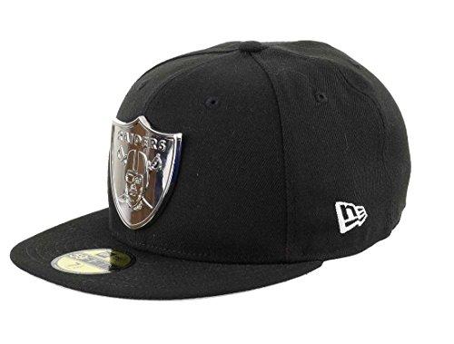 New Era Oakland Raiders - Gorra de béisbol 59fifty, color plateado y negro