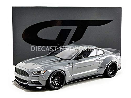 GT Spirit kompatibel mit Ford Mustang Liberty Work LB Works 2017 grau Modellauto 1:18