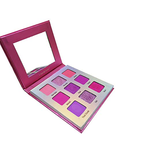 Highly Pigmented Eyeshadow Palette, YMH BEAUTE 9 Neon Pink Matte Shimmer Eye Shadow Palettes Makeup Pallet Long-Lasting Blendable Waterproof Colorful Cruelty-free Eye Shadows, Rockies Sunset