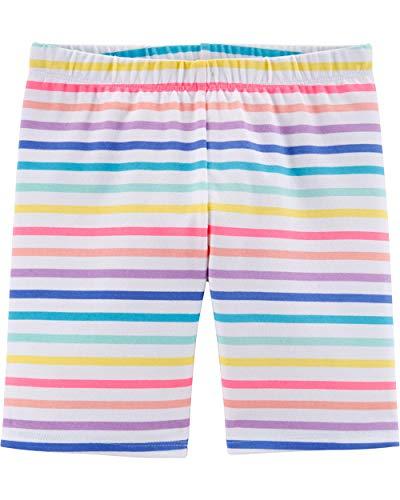 Osh Kosh Girls' Toddler Bike Shorts, Rainbow Stripe, 4T