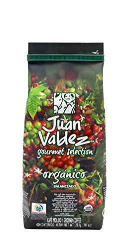 JUAN VALDEZ Organic Colombian Fairtrade Coffee | Café Colombiano Organico 10 Oz