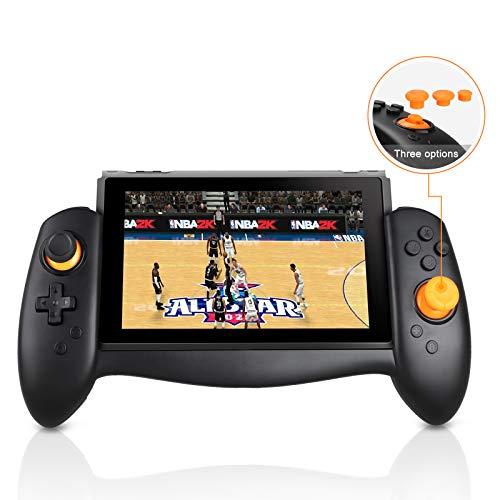 Linkstyle Ergonomischer Switch Controller Handheld Modus Pad Pro Joy-Con Ersatz Handgriff Kompatibel mit Nintendo Switch