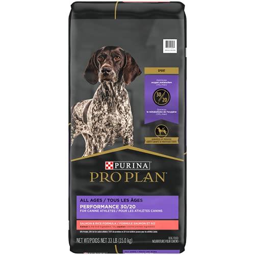 Purina Pro Plan High Energy, High Protein Dog Food, SPORT 30/20 Salmon & Rice Formula - 33 lb. Bag