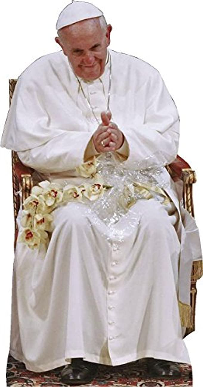 Wet Paint Printing + Design H48063 Pope Francis Sitting Cardboard Cutout