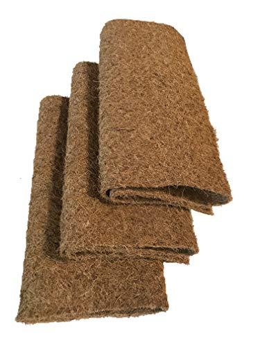 pemmiproducts Tapis de Culture en 100% Noix de Coco, 100 x 50 cm, env. 7 mm d'épaisseur, Paquet de 3 (EUR 7,63/pièce), pour la Culture par ex. du cresson et des germes (Microgreens), Micro verdures