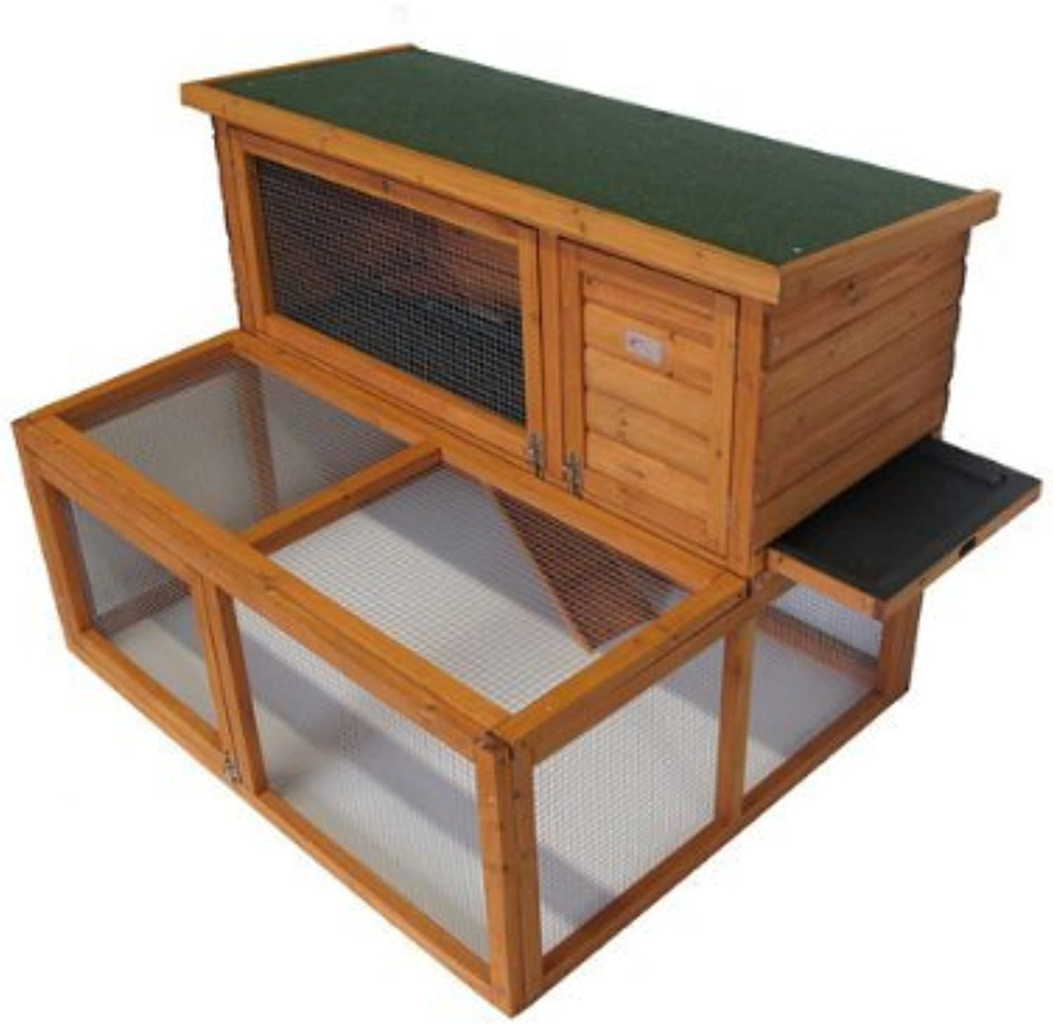 BUNNY BUSINESS Drop Hutch and Run Rabbit Guinea Hutches, 4 ft