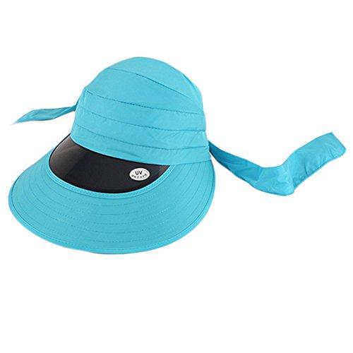 Blancho Outdoor Grand Chapeau Chapeau Protection Solaire pour l'été, Femme, Bleu Ciel