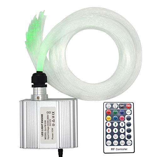 Led Twinkle Fiber Optic Lights Star Ceiling Kit Headliner 10W RGBW RF Remote 200 Strands 6.5ft/2m Optical Fiber Lights for Cars and Room
