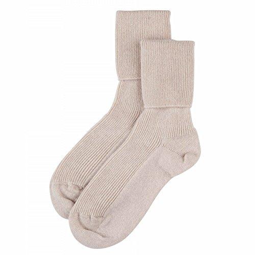 Johnstons of Elgin Damen Socken Einheitsgröße Gr. Einheitsgröße, Swansdown Beige