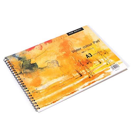 Almohadilla de papel para acuarela en colores pastel A3, bloc de dibujo...