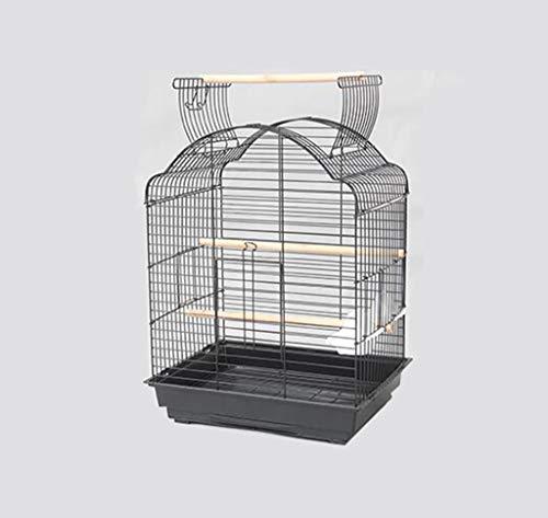 Space- rack Z-W-Dong Robuste Cages Parrot métal, Perruches calopsittes écureuil fenêtre Cages Afficher Birdcages- Top Peut être Ouvert Oiseaux/Cages à Oiseaux (Color : A, Size : 52 * 41 * 70CM)
