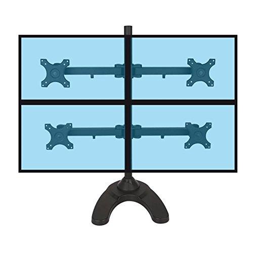 KIMEX 015-1256 Support de Bureau pour 4 écrans PC 13''-24\