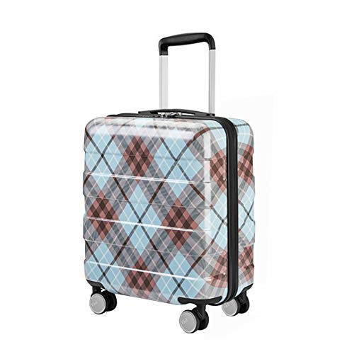 RSTJ-Sjef 24-Inch Scratch-Resistant (ABS + PC) Hard-Sided Medium-Sized Suitcase-Durable Lightweight Suitcase (Check Pattern),20 inches