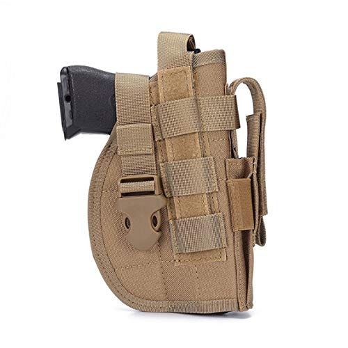 SexyMonkey Pistol Holster Gun Holsters, Molle Holster with Magazine Pouch, Tactical Holsters for Pistols, Universal Adjustable Molle Pistol Holster for 9mm 1911 45 92 96 p226 Glock(Turmeric)