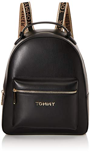 Tommy Hilfiger Iconic Tommy Backpack, Bolsas. para Mujer, Negro, One Size