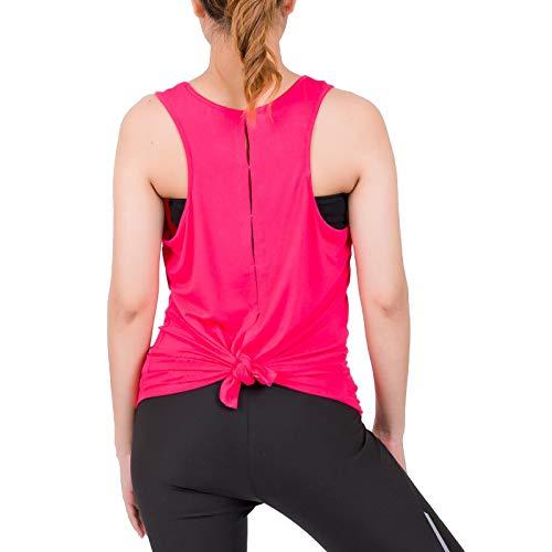LOFBAZ - Top da allenamento per donna, yoga, palestra, canottiera, abbigliamento alla moda - Rosa - XL