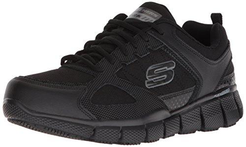 Skechers Work Men's Telfin-Sanphet Industrial Shoe, Black Leather Courdura, 13 M US