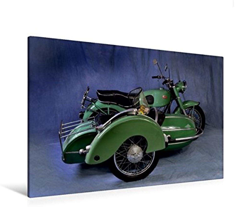 Calvendo Premium Textil-Leinwand 120 cm x 80 cm quer, Zündapp KS 601 Baujahr 1952   Wandbild, Bild auf Keilrahmen, Fertigbild auf echter Leinwand, Leinwanddruck Mobilitaet Mobilitaet