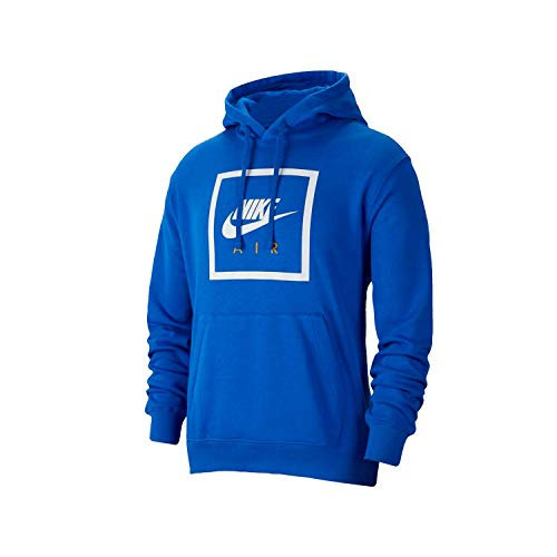 Nike M NSW Po Hoodie Air 5 Long Sleeve Top, Hombre, Game Royal