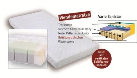 Aro Artländer 9207210 Vario-Sanistar matras, bamboe overtrek, 60 x 120 cm