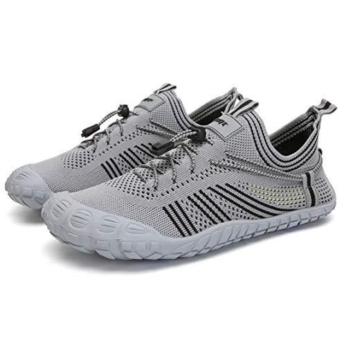 DSGYZQ Zapatos de Agua Unisex al Aire Libre Antideslizante Durable Zapatos de Caminata Casual Playa Velocidad de interferencia Deportes de Agua,Gris,40