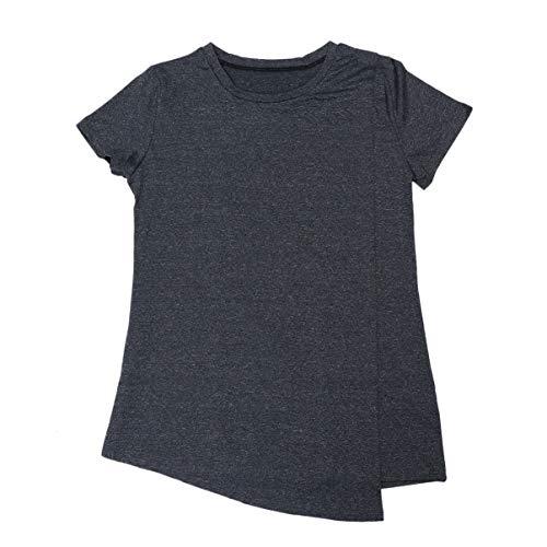 KESYOO Dames Korte Mouw Gelaagde Voedingstops Moederschap Borstvoeding Tuniek Raglan Borstvoeding Shirts