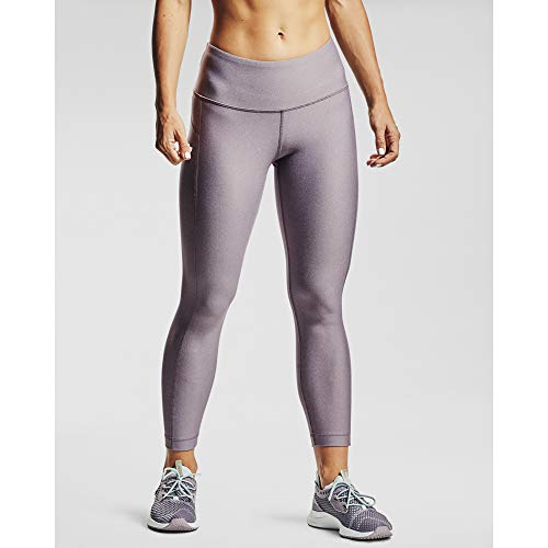 Under Armour Women's HeatGear Armour High Waisted Ankle Crop Leggings , Slate Purple Light Heather (585)/Halo Gray , X-Large