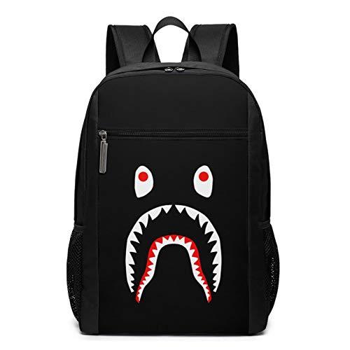 Bape Blood Shark 17 Inch Laptop Backpack Durable Waterproof Bookbags Laptop Backpack For Man Woman'S Students