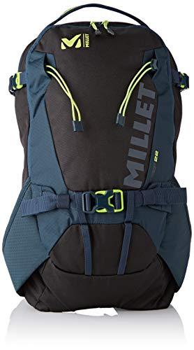 MILLET STEEP 22 Sac de Ski Unisex-Adult, Noir/Orion Blue, FR Unique Fabricant : Taille One sizeque