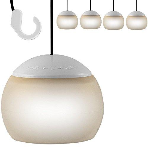 4 x LED Hängelampe Pavillon Laterne Camping Lampe Zeltlampe Leuchte Lampion Pavillonlampe Pavillonbeleuchtung Druckschalter