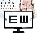 Huanyu Gráfico de agudeza visual digital óptico LCD de 18.5 pulgadas (47 cm) de...