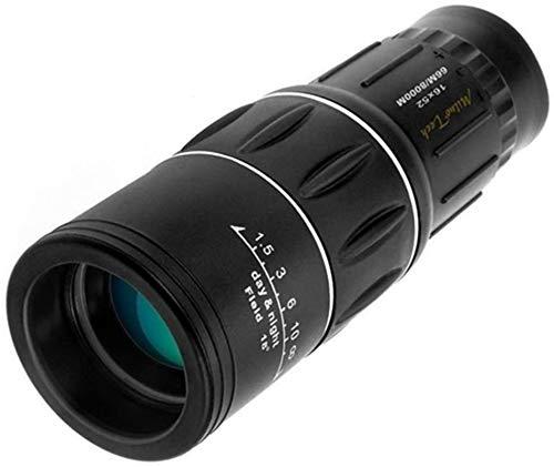 HSWYJJPFB Catalejo Monocular 16x52 Alta Ampliación Ultra Claro Zoom All Shimmer Óptico Telescopio único para Uso en Exteriores (Color: Negro) (Color : Negro)