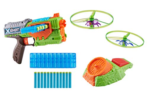 ZURU X-Shot New Flying Bug Attack Swarm Seeker Dart Blaster 1 Pack (12 Darts) (Custom Packaging) Toy of The Year Finalist
