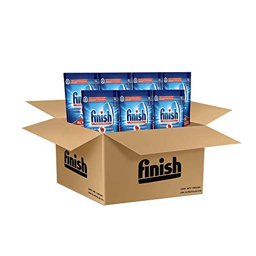 Finish Finish Power Ball All In One Tabletas Lavavajillas Super Poderoso, 13 Tabletas, 7 paquetes de 13 tabletas c/u