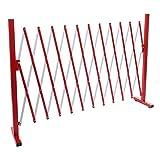 Mendler Absperrgitter HWC-B34, Scherengitter Zaun Schutzgitter ausziehbar, Alu rot-weiß ~ Höhe 103cm, Breite 37-300cm