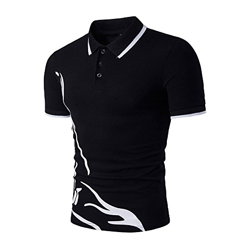 Review EOWEO celebration New Hot Men's Slim Sports Short Sleeve Casual Shirt T-shirts Tee Tops(Small...