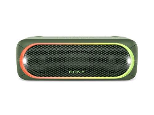 Sony SRS-XB30G - Altavoz inalámbrico portátil (Bluetooth, NFC, Extra Bass, 24h de batería, Wireless Party Chain, luz Lineal Multicolor, Flash estroboscópico) Color Verde
