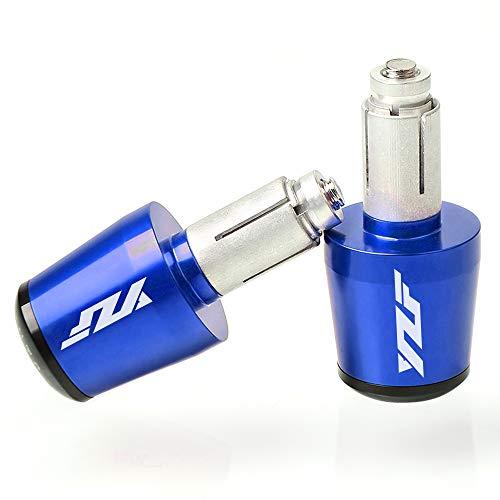 Motorrad Lenkergriffe Endkappen Aluminium für Yamaha YZF R1 R3 R6 R6S R25 R125 600R Blau
