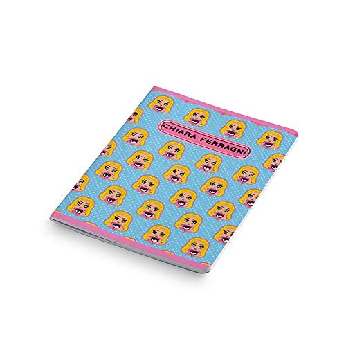 Quaderni Chiara Ferragni x Pigna, f.to A5, Assortimento Soggetti mix Rosa / Azzurro, Confezione da 5 Quaderni