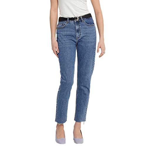 ONLY Damen 15171549 Straight Jeans, Dark Blue Denim, 38/L34 (Herstellergröße: 30)