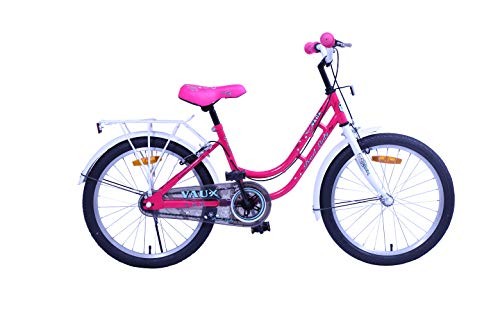 """Vaux Bicycle for Kids- Vaux Pearl Lady 20T Kids Bicycle for Girls. Ideal for Cyclist with Height (3'11"""" – 4'3"""") – White/Pink."""