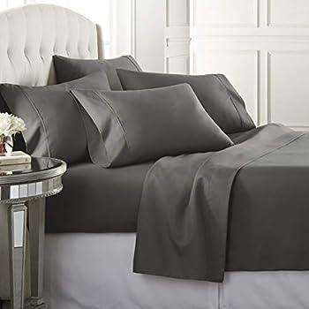 6-Piece Danjor Linens California King Size Bed Sheets & Pillowcases Set