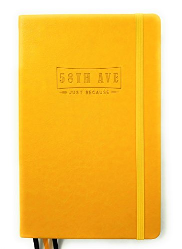 Best Bullet - Cuaderno de notas con diseño de cuadros, tamaño A5, tapa dura, piel sintética, 100 g/m², papel grueso de alta calidad, hasta 58