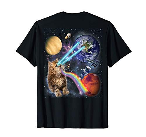 Laser de tir de chat dans la galaxie spatiale T-Shirt