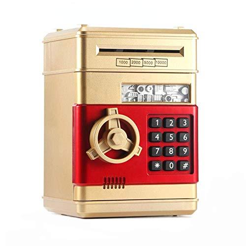 Cxjff Tirelire électronique avec mot de passe ATM - Tirelire - Coffre-fort automatique - Doré
