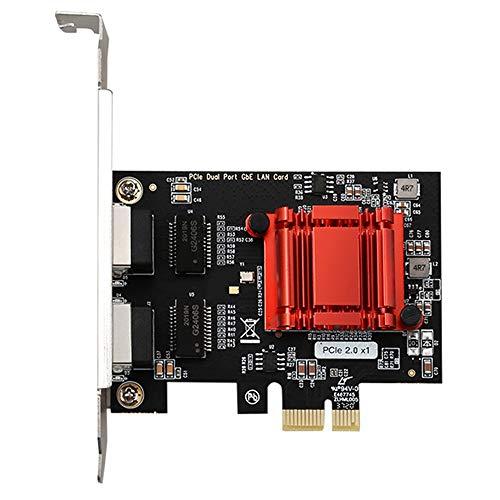 VORA Tarjeta de Red Gigabit de Doble Puerto Tarjeta de Red del Servidor del Router de Escritorio Tarjeta de Red de Servidor PCIe